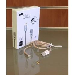 Câble USB/micro USB magnétique WE argent
