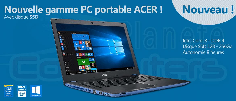 Portables ACER avec SSD